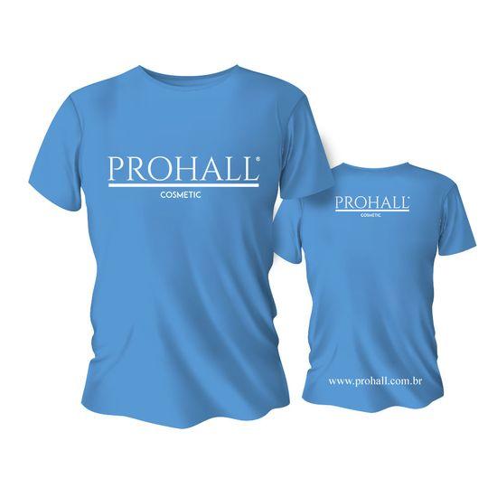 Camiseta-Azul-Personalizada-Prohall-Cosmetic