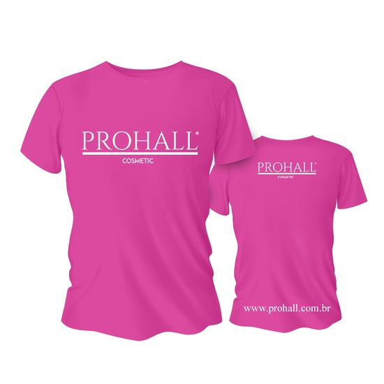 Camiseta-Rosa-Personalizada-Prohall-Cosmetic