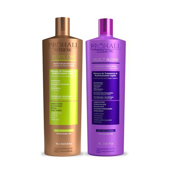 Kit-Escova-Vegana-Burix-One-1L---Escova-Organica-Select-Blond-1L